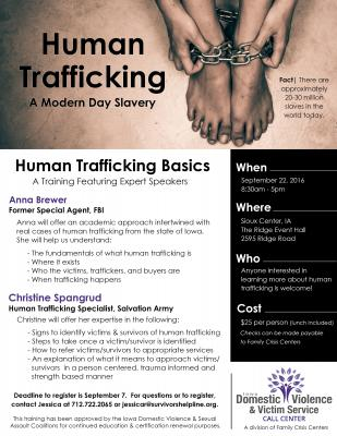 Human Trafficking -- What is Your Role in Helping Victims & Survivors?
